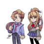 I drew Monika and Senpai