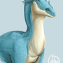 Blue Dragon Bust