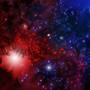Red vs Blue Nebula by Nondual