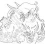 Tsunomi - Art Nouveau - Ink by Magicalmelonball