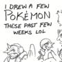 I drew a few Pokemon...