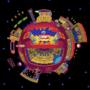 Casino night pixel globe