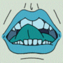 Animated Lips Icon by Bobfleadip