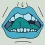 Animated Lips Icon by Bobfleadip