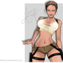 Angelina Jolie as Lara Croft by Sabtastic