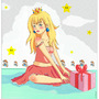 Princess Peach-Gift by caska
