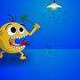 Fighting with flies. by Dziokas