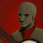 banjo playing zombie by J-qb