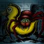 Bathroom Spider by JWBalsley