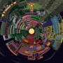 A pixel globe of planet Zebes