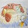 Jetpack Bunny vs. Giant Crab by MongaikanRyu