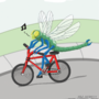Dragonfly Riding Bicycle 2 by MongaikanRyu