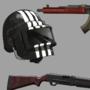 Weapons & Helmet (commission)