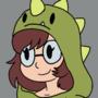 Dino hoodie gamer girl comm