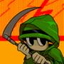 Raincoat soldier