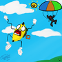 Parachute Fail! by MrKittie