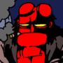 Hellboy Takes a Smoke Break