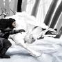 Jon Snow & Ghost by ChrisDaemon
