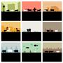 some animals running around by EmThree
