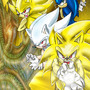 Sonic all forms Kamehameha by MajinThrenok