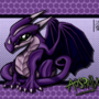 Auspriya the Purple Dragon by CaffineFreekar