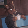 Adrian having a drink (Commissioned)