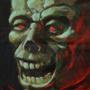 B-horror movie acrylic art