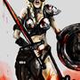 Female Warrior Dovakiin by veselekov