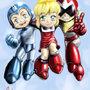 Rockman trio by Imp-beast