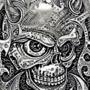 Paisley Demon Skull