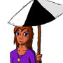 Girl with umbrella by Allener
