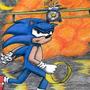 Sonic chalk pastels