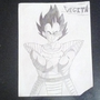 Vegeta (Pencil drawing) by ninjawafflez