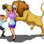 Lion Attacking Woman by poxpower