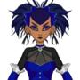 Cobalt Blue Tarantual Gothic Lolita OC