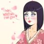 Hyūga Hinata 'geisha' commission for bob3465