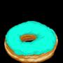 Blue donut - white sprinkles