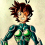 Chaspin, the green armored Saiyan