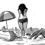 ladies at the beach by Daagah