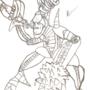 Mecha kill jester alien Sketch