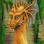 Blue Eyed Dragon by EchoRun