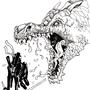 Ninja Versus Dragon by GoatmanGADs