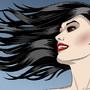 Beautiful Girl On a Windy Day