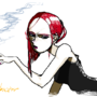 She with Cigarette by psicobactor