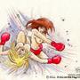 Brunette And Blonde Boxing 02 by FASSLAYER