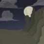 Full Moon Desert by badloom888