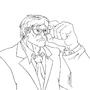Nerd Hulk (Line Art) by Fullmetal-Animator