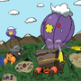 Dwebble and Crustle learn fly by Pyrolisk
