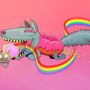 NYAN CAT VERSUS DOGNUT by VincentGrey