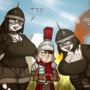 Visigoths bullying Roman Legionnaire